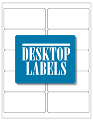 "White Glossy Labels- 4"" x 2"" 