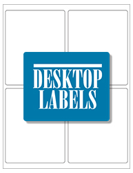 "Clear Waterproof Labels- 4"" x 5"" 
