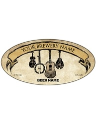 "3.9375""x1.9375"" Oval Bottle Label- Artist Series 