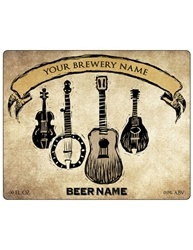 "4""x3.33"" Rectangle Bottle Label- Artist Series 