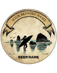 "3.33"" Diameter, Round Bottle Label- Artist Series 
