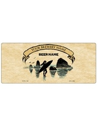 "7""x3"" Rectangle Bottle Label- Artist Series 