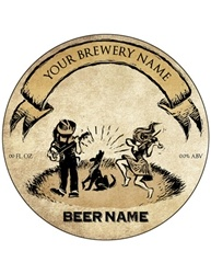 "3.33"" Diameter Beer Bottle Label- Artist Series 
