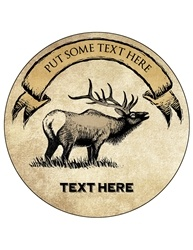 "4"" Round Custom Drink Coaster CCIR.AS.ELK"