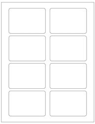 "Blank White Labels- 3.375"" x 2.3125"" 