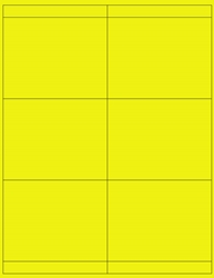 "Yellow Fluorescent Labels- 4.25"" x 3.3"" 